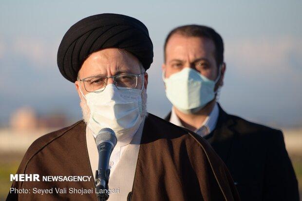 سفر حجتالاسلام سید ابراهیم رئیسی رئیس قوه قضاییه به مازندران