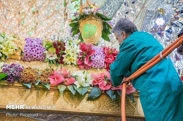 Holy shrine of Imam Hussein (PBUH) on eve of Month of Sha'ban