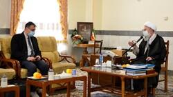 رایزن فرهنگی سفارت عراق در ایران با آیت الله ری شهری دیدار کرد