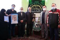 مسئولین هیات تکواندو تهران با خانواده زنده یاد فتحی دیدار کردند