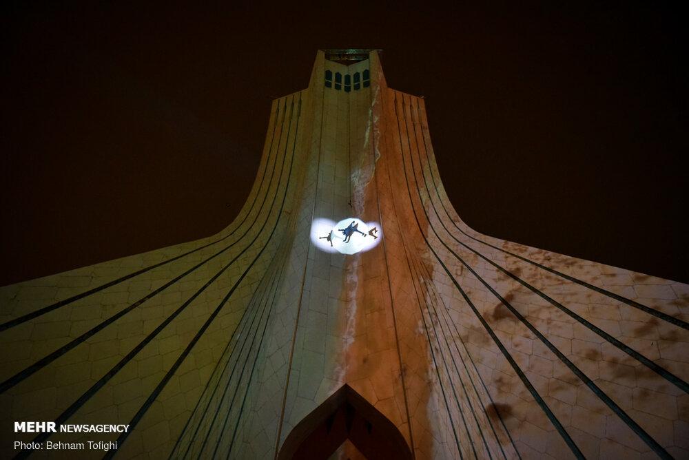 نمایشی که روی «برج آزادی» اجرا شد/ دورخیز برای برجهای بلند جهان