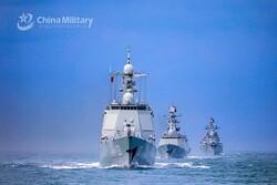 برگزاری رزمایش نظامی چین در آبهای سرزمینی