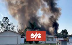 لحظه انفجار وسایل آتشبازی در کالیفرنیا