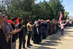 اعتراضات گسترده علیه  شبه نظامیان وابسته به آمریکا در سوریه