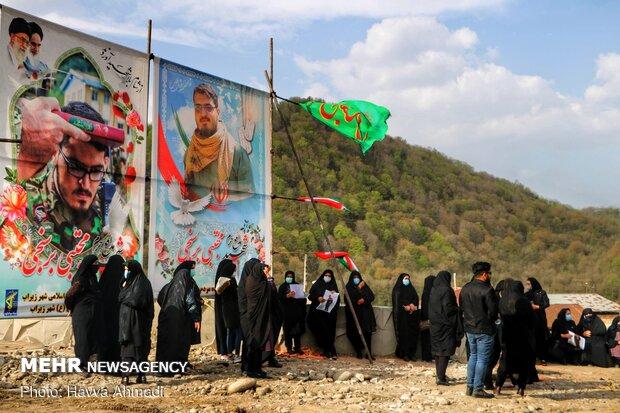 تشییع شهید مدافع حرم در سوادکوه