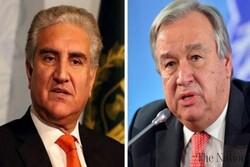 وزیر خارجه پاکستان و دبیرکل سازمان ملل گفتگو کردند