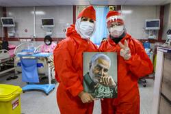سال نو با مدافعان سلامت در بیمارستان رازی اهواز