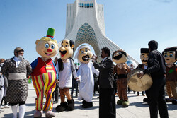 مراسم آغاز سال ۱۴۰۰ در میدان آزادی