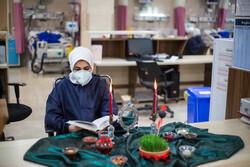 تحویل سال نو در کنار کادر درمان بیمارستان بوعلی سینای قزوین