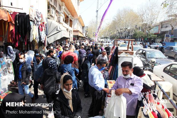 بازار گرگان یک روز قبل از نوروز
