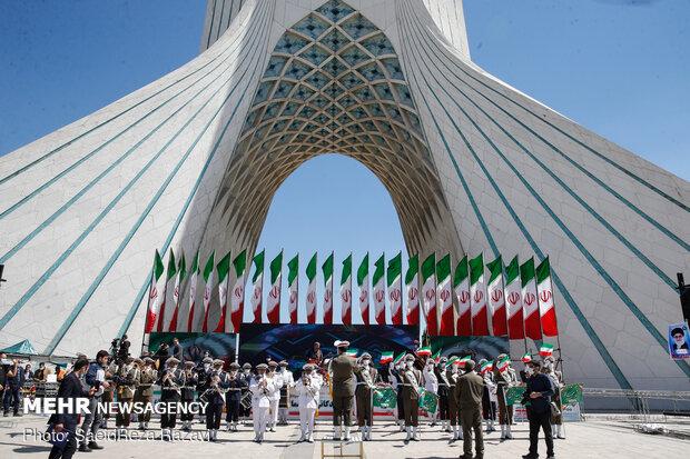 مراسم آغاز سال 1400 در میدان آزادی