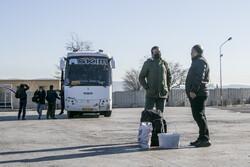 تبریز کے ٹرمینل پرنوروز کے مسافروں کا منظر
