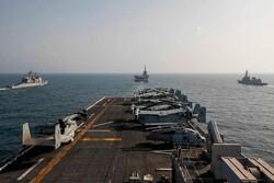 رزمایش آمریکا و سه کشور دیگر در دریای عمان