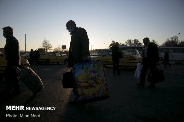 مسافران نوروزی در ترمینال تبریز