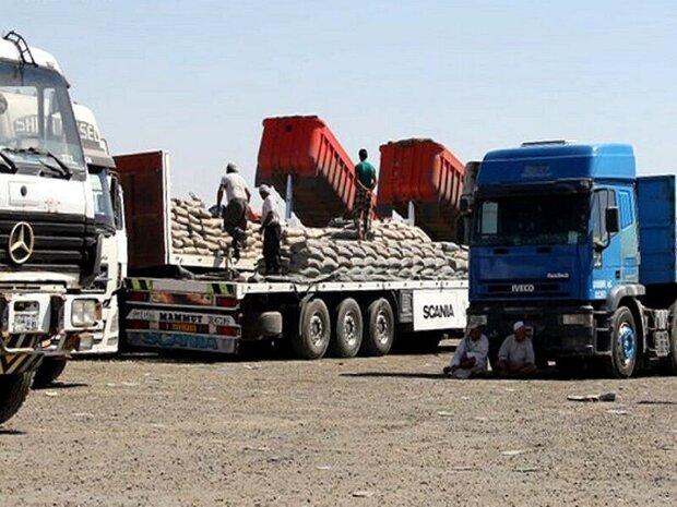 شحنات الترانزيت عبر منفذ مهران للعراق بلغت قیمتها 464 مليون دولار