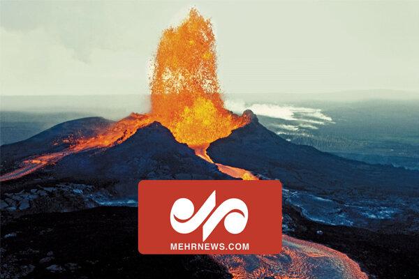 فوران آتشفشان در ایسلند