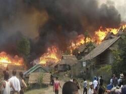 بنگلہ دیش میں روہنگیا کیمپ میں آتشزدگی سے کئی خیمے جل گئے