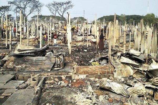 چهارصد مفقود در آتش سوزی بنگلادش