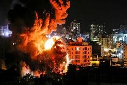 غزہ کے بعض علاقوں پر اسرائیل کی وحشیانہ بمباری