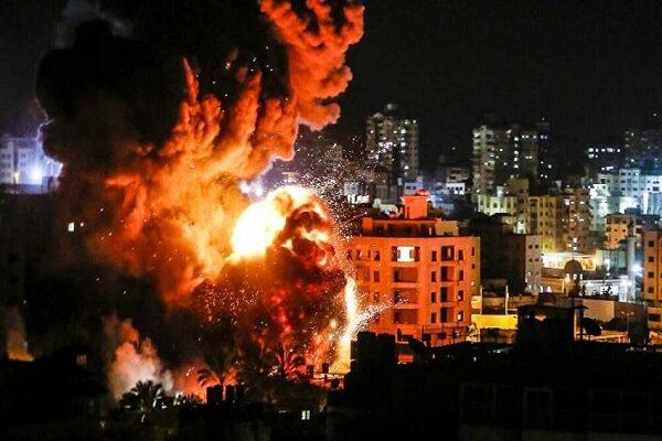 حمله جنگنده های رژیم صهیونیستی به غرب نوار غزه