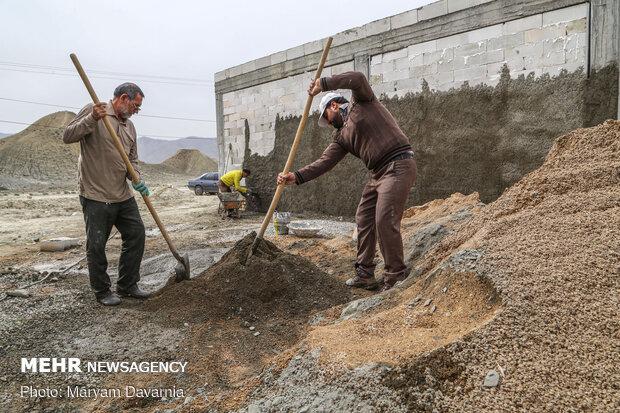 هفتسین جهادگران جوان در منطقه محروم کالشور خراسان شمالی