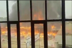 آتشسوزی گسترده در کابل/ تلاش برای اطفای حریق ادامه دارد