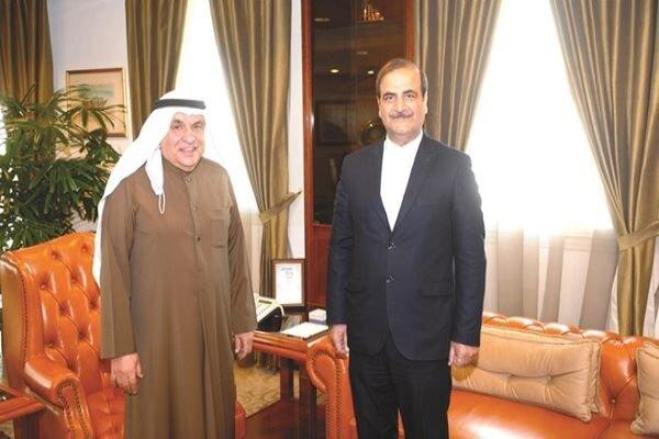 لقاء السفیر محمد ایراني مع جاسم الصقر رئيس غرفة التجارة والصناعة بدولة الكويت