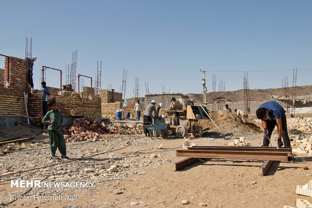 فعالیت جهادی قرارگاه شهید حجت اسدی استان قزوین در مناطق محروم چابهار