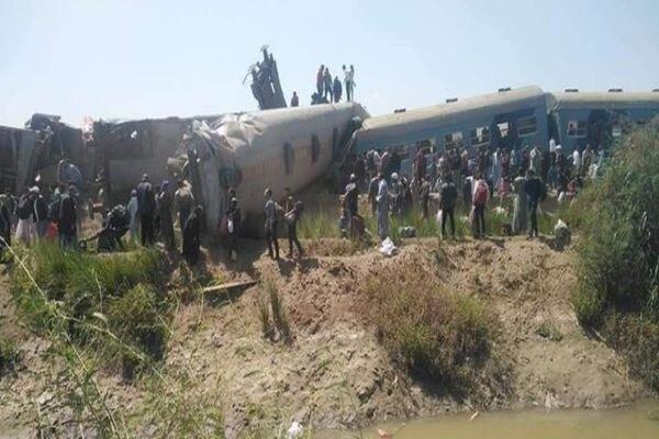برخورد ۲ قطار مسافربری با یکدیگر در مصر/ ۳۲ کشته و ۱۰۸ زخمی