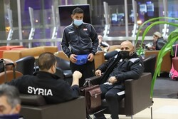 Syrian soccer team land in Tehran for friendly match