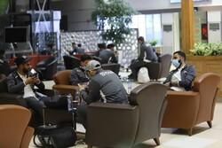 شام کی قومی فٹبال ٹیم تہران پہنچ گئی