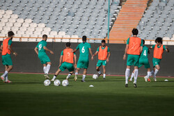Team Melli's training session before friendly vs Syria