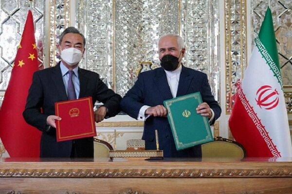 وزيرا خارجية إيران والصين يوقعان وثيقة شاملة للتعاون الاستراتيجي