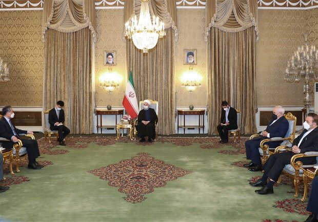 Relations with China are strategic, Rouhani tells Yi