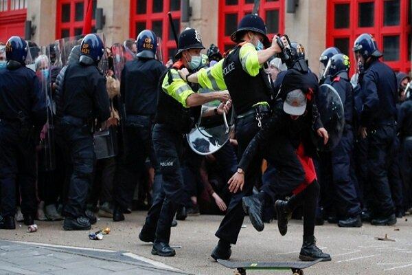 اعتراضات در لندن علیه «لایحه افزایش قدرت سرکوب پلیس»