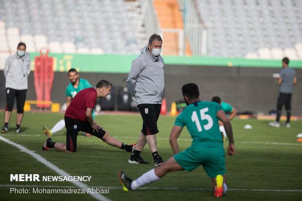 İran Milli Takımı hazırlık maçı için antreman yaptı