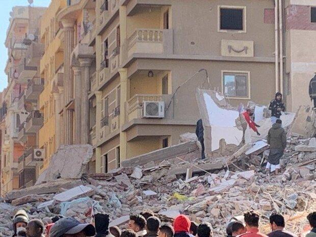 مصر میں 10 منزلہ رہائشی عمارت گرنے کے نتیجے میں 18 افراد ہلاک