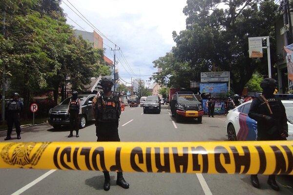 ۱۴ زخمی بر اثر انفجار در مقابل یک کلیسا در اندونزی
