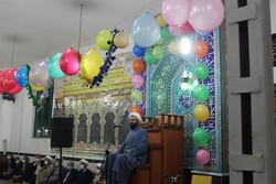 مراسم جشن نیمه شعبان در حسینیه شهر توپ آغاج از توابع بیجار
