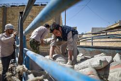 گروه جهادی بسیج دانشجویی در راه مناطق زلزله زده گرمه و جاجرم