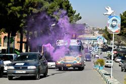 کاروان های پیاده و خودرویی منتظران ظهور در کرمانشاه