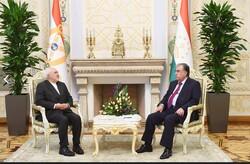 Zarif, Tacikistan Cumhurbaşkanı Rahman ile görüştü