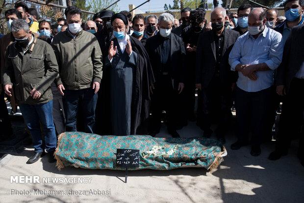 Azadeh Namdari's burial