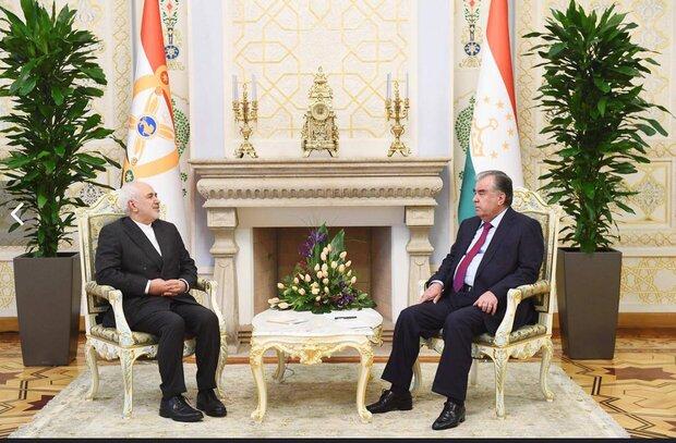 ایرانی وزیر خارجہ کی تاجیکستان کے صدر سے ملاقات