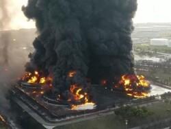 انڈونیشیا میں آئل ریفائنری میں خوفناک آتشزدگی کے نتیجے میں متعدد افراد زخمی اور لاپتہ