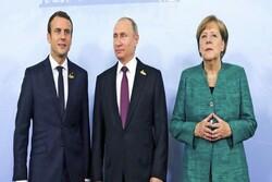 بوتين يجري حوارا مع  ماكرون وميركل حول الملف النووي الايراني والوضع في سوريا و ليبيا
