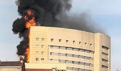 آتش سوزی گسترده در بیمارستان میلاد اصفهان/۴ طبقه دچار دودزدگی شد