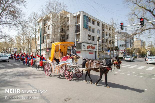 'Hajji Firuz' carnival in Qazvin