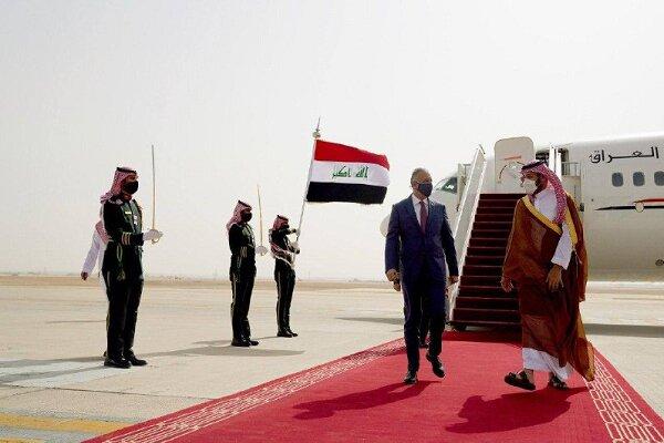 عراق کے وزیر اعظم کی سعودی عرب کے ولیعہد سے ملاقات