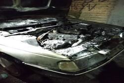 مهار آتشسوزی خودرو در شهرستان هرسین